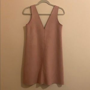 Dusty Pink Suede Zara Shift Dress